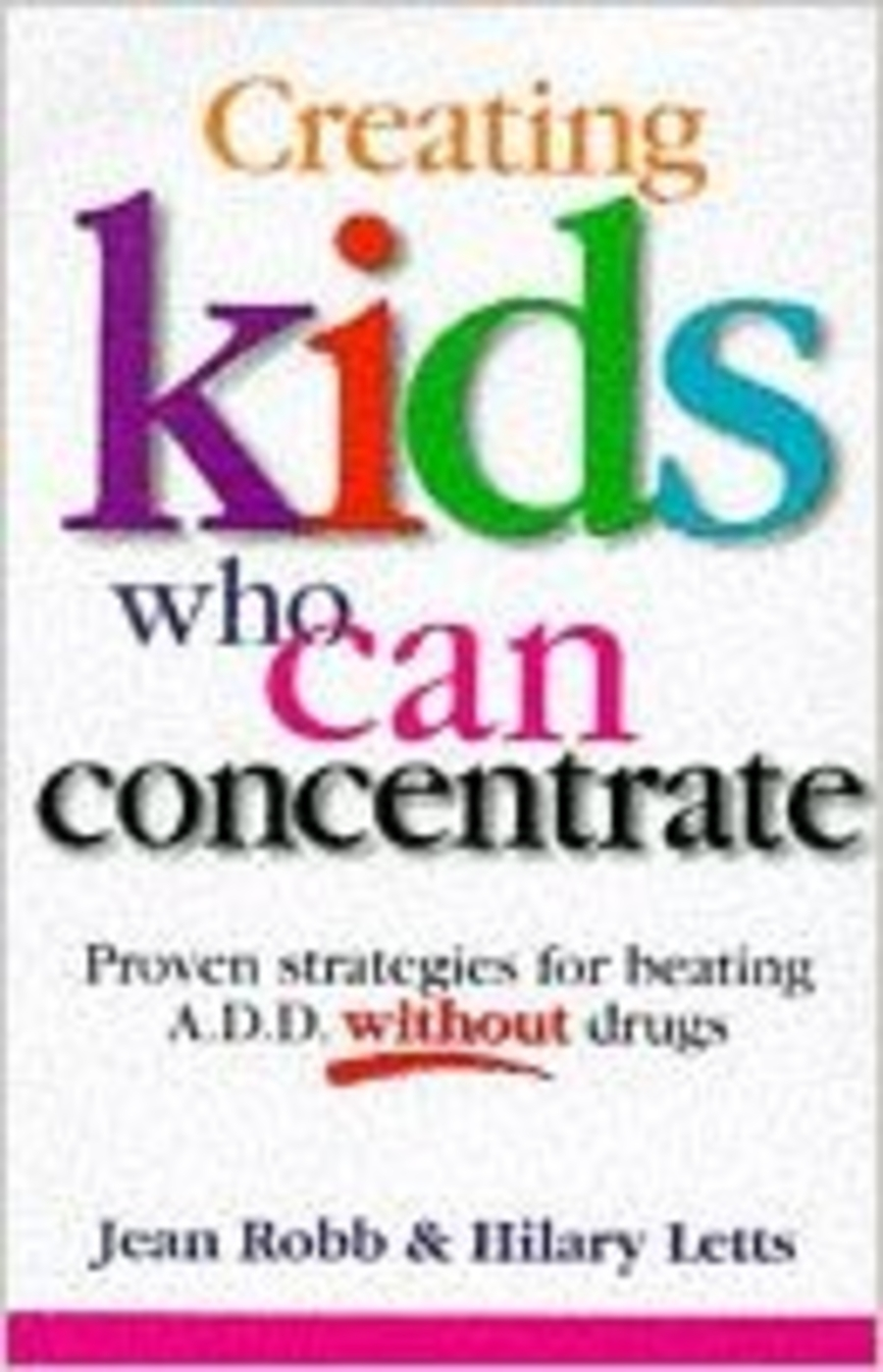 Creating kids who can concentrate