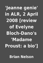 'Jeanne genie' in ALR, 2 April 2008 [review…
