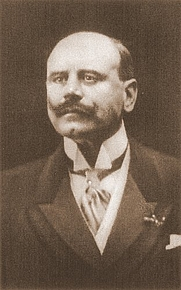 """Author photo. From """"New York Times Current History: The European War,"""" 1915 ~ Project Gutenberg"""