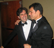Author photo. Christopher Sorrentino (right) with Jonathan Lethem<br> at the National Book Awards 2006<br>Copyright © 2006 <a href=&quot;http://ronhogan.tumblr.com&quot;>Ron Hogan</a>