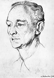 Author photo. Leopold Hamilton Myers (1881—1944), drawing by William Rothstein