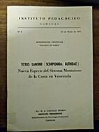 Tityus lancinii (Scorpionida: Buthidae);…