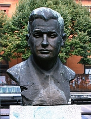 Author photo. Bust of Geza Csath, Subotica, Serbia.  Photo by user Piroska / Hungarian Wikipedia.