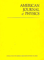 American Journal of Physics April 1972 by…