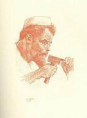 Author photo. Drawing by Emil Orlik (1902)
