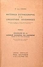 Matériaux d'ethnographie et de…