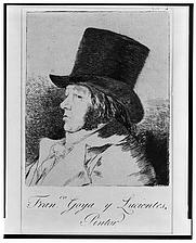 Author photo. Francisco José de Goya y Lucientes (1746–1828) Self portrait, etching (Library of Congress Prints and Photographs Division)
