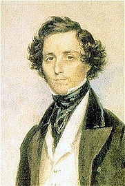 Author photo. Felix Mendelssohn Bartholdy at the age of 30 in London. Watercolor painting by James Warren Childe, 1839. (Public domain; Wikipedia)