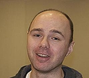 Author photo. Karl Pilkington in 2007, by Wikipedia user Timmy123.