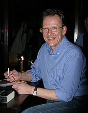 """Author photo. Bernhard Kegel at the launch of his book """"Der Rote"""". By Stö Hellwag, released under Creative Commons Attribution ShareAlike 3.0."""