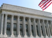 Author photo. Exterior of the U.S. Dept. of Agriculture, along the Mall at Washington DC.