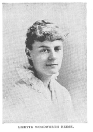 Author photo. Lizette Woodworth Reese (b.1856), Buffalo Electrotype and Engraving Co., Buffalo, N.Y.