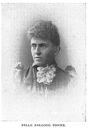 Author photo. Belle Kellogg Towne (b.1844), Buffalo Electrotype and Engraving Co., Buffalo, N.Y.