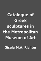 Catalogue of Greek sculptures in the…