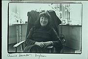 Author photo. Portriat of Denise Levertov taken by Elsa Dorfman on Flagg St, Cambridge, MA