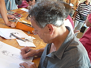 Author photo. Christian Lax au Festival International de la BD de Sollies Ville par Esby.