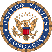 Author photo. Seal of the U.S. Congress
