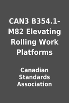 CAN3 B354.1-M82 Elevating Rolling Work…