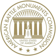 Author photo. Seal of the American Battle Monuments Commission