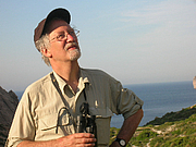 Author photo. Ornithologist Jonathan Elphick photographed at Boquer Valley, Mallorca