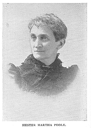 Author photo. Hester Martha (Hunt) Poole (b.c1843), Buffalo Electrotype and Engraving Co., Buffalo, N.Y.