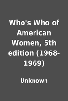 Who's Who of American Women, 5th edition…