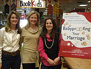 Author photo. Stacie Cockrell, Cathy O'Neill, & Julia Stone photographed at BookPeople in Austin, Texas