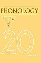 Phonology 20 (2003)