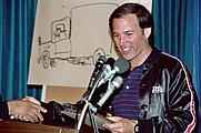 Author photo. Inkpot Awards, San Diego Comic-Con 1982, photo by Alan Light