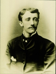 Author photo. Frank Hamilton Cushing (1857–1900)This is a photo of Frank Hamilton Cushing, who in 1895 began excavating Marco Island. Cushing discovered the Key Marco cat.