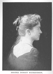 Author photo. Hester Dorsey Richardson (b.1862), Buffalo Electrotype and Engraving Co., Buffalo, N.Y.