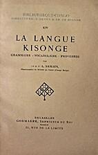 La langue kisonge: grammaire, vocabulaire,…