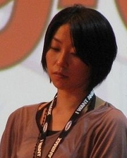 Author photo. Hoshino at the 2008 AnimagiC convention in Bonn. (Photo by DrakeXDragon)