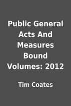 Public General Acts And Measures Bound…