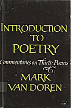 Introduction to poetry by Mark Van Doren