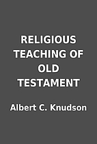 RELIGIOUS TEACHING OF OLD TESTAMENT by…