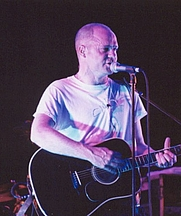 Author photo. Gord Downie performing with The Tragically Hip at Darien Lake, New York. Photograph by Richard G. Battaglia