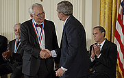 Author photo. Charles Slichter receives the National Medal of Science (National Science Foundation)