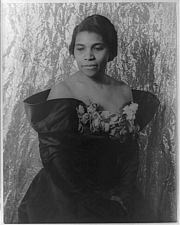 Author photo. Marian Anderson (1897-1993) Photograph by Carl Van Vechten, Jan. 14, 1940. (Library of Congress Prints and Photographs Division)