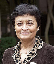"""Author photo. Dr. Vidya Dehejia. Noted scholar of Indian and South Asian Art. Image from <a href=""""http://www.mssu.edu/themed-semester/india/india-speakers.php"""" rel=""""nofollow"""" target=""""_top"""">MSSU</a>."""