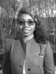 "Author photo. photo of associate chief of the NASA Space Science Data Operations Office, data scientist Valerie L. Thomas in 1996 By NASA - <a href=""//nssdc.gsfc.nasa.gov/nssdc_news/sept95/04_j_green_0995.html"" rel=""nofollow"" target=""_top"">http://nssdc.gsfc.nasa.gov/nssdc_news/sept95/04_j_green_0995.html</a>, Public Domain, <a href=""//commons.wikimedia.org/w/index.php?curid=39603584"" rel=""nofollow"" target=""_top"">https://commons.wikimedia.org/w/index.php?curid=39603584</a>"