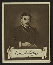 "Author photo. Cigarette card (Courtesy of the <a href=""http://digitalgallery.nypl.org/nypldigital/id?1204134"">NYPL Digital Gallery</a>; image use requires permission from the New York Public Library)"