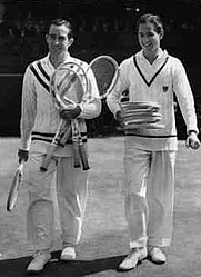 Author photo. Elwood Cooke and Bobby Riggs at Wimbledon, 1939: Image © <a href=&quot;http://www.bildarchiv.at/&quot;>ÖNB/Wien</a>