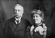 Author photo. Hudson and Emma Rood Tuttle. Image from <b><i>A Golden Sheaf</i></b> (1907) by Hudson and Emma Rood Tuttle