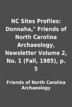 NC Sites Profiles: Donnaha, Friends of…