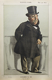 Author photo. Caricature of William Henry Gregory, 1871, by James Joseph Jacques Tissot. Wikimedia Commons.