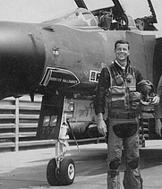 Author photo. Mark Berent with his F-4D <i>DONKINS WALLBANGER</i> at Ubon RTAFB. Picture by Maj. John Ford.