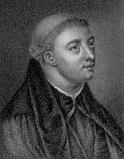 Author photo. John Lydgate, as depicted in <i>The Lives of Eminent and Remarkable Characters from the Counties of Essex, Suffolk and Norfolk</i> (1820).