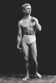 Author photo. Macfadden as David. Photograph by Napoleon Sarony.