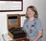 Author photo. Jennifer Wilcox [credit: Enigma-Replica.com]